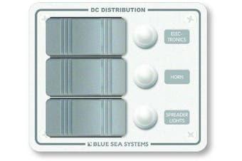 Contura Water Resistant 12V DC Circuit Breaker Panel - White 3 Position