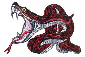 (Small, Pattern 2) - Snake Large Python Crazy beautiful patch iron on sew on applique (Small, Pattern 2)