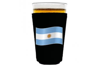 (Argentina) - World Countries Flag Neoprene Collapsible Pint Glass Coolie (Argentina)