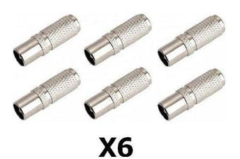 6 X Easy Fit Screw On Tv Aerial Coax Coaxial Plug Male