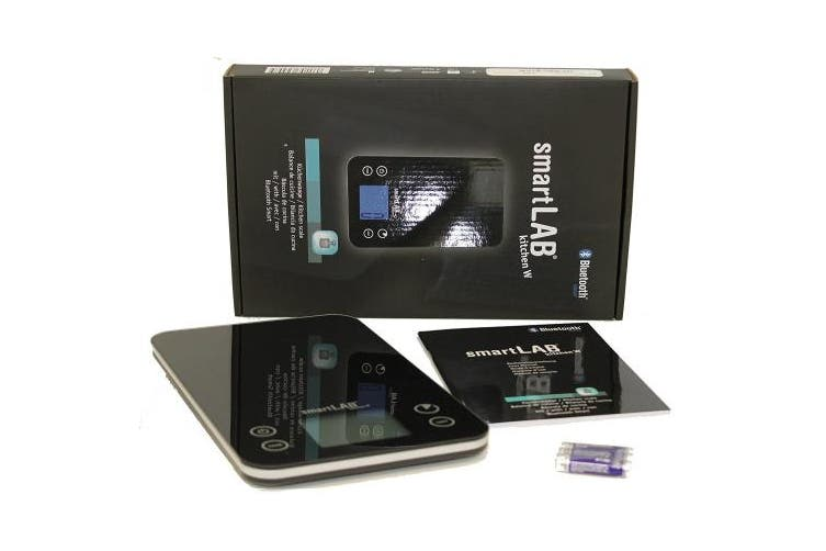 smartLAB kitchen W kitchen scale with Bluetooth Smart with glass surface