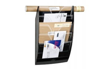 CEP Heavy-Duty 5-Section Wall File, 13.9 x 60cm x 12cm , Black (CEP1540011)