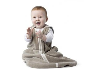 (Medium (6-18 months), Mocha Heather) - Sleep nest Fleece Baby Sleeping Bag, Mocha Heather, Medium (6-18 Months)