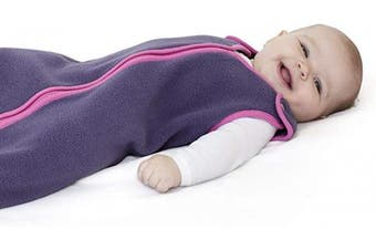 (Medium (6-18 months), Purple Rain) - Sleep nest Fleece Baby Sleeping Bag, Purple Rain, Medium (6-18 Months)