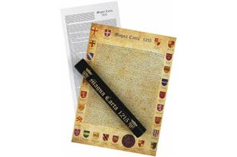 Replica MAGNA CARTA - 800th Anniversary - in black and gold presentation tube - with translation