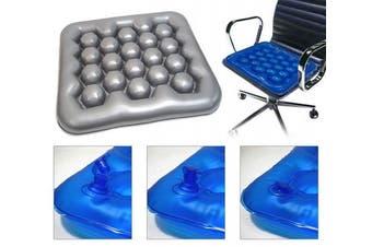 (Grey colour) Air Water Inflatable Wheelchair Driver Car Cushion Preventing Bedsore Office Driver Seat Cushion