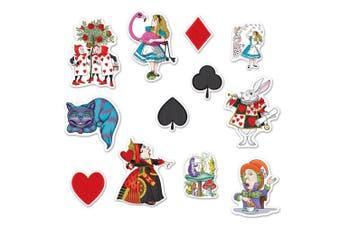 Beistle 54781 24 Piece Alice in Wonderland Cutouts, 15cm - 30cm , Multicolor