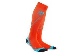 (IV, Sunset/Hawaii Blue) - CEP Men's Progressive+ Compression Run Socks 2.0 for Running, Cross Training, Fitness, Calf Injuries, Shin Splits, Recovery, and Athletics, 20-30mmHg Compression