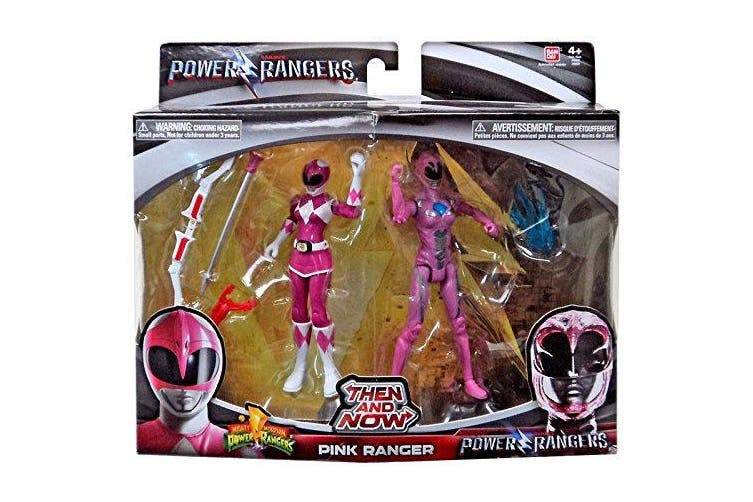 Saban's Power Rangers Movie Then and Now Pink Ranger Action Figure Set 13cm