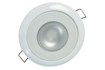 (White Housing, White Non-Dimming, Non-TTP) - Lumitec LED Exterior or Interior Down Light, Flush Mount, High Output, Slim Profile