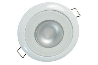 (White dimming, Red dimming, Mirage, White Bezel) - Lumitec Mirage White Bezel Exterior and Interior Flush Mount Down Light