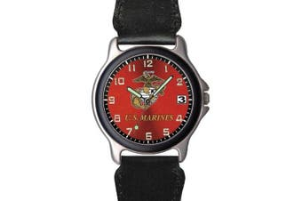 Aqua Force Marines Frontier Watch with 38mm Face and Nylon/Leather Band (Style 1)
