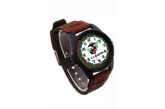 Aqua Force Marines El Backlight Watch with 40mm White Face