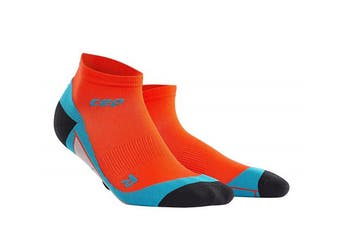 (III, Sunset/Hawaii Blue) - CEP Men's Dynamic+ Low Cut Socks with Compression
