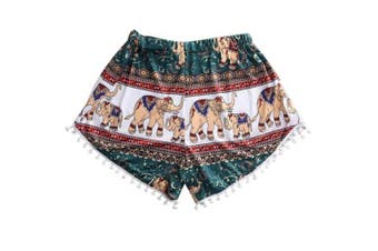 (X-Large, Colorful) - Animal Print Shorts,Hemlock Women Girls Casual Summer Pants Retro Bench Shorts (XL, Colourful)