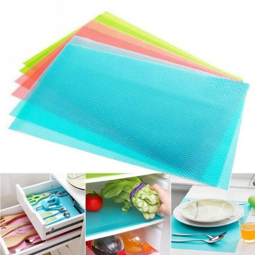 (Blue) - Refrigerator Liners Washable Refrigerator Mats Kitchen Silicone Refrigerator Pads Place Mats 5PCS/Set Colour: Blue Refrigerator Mats Kitchen Silicone Refrigerator Pads Place Mats   Material: EVA  Size:45×30×0.1cm  Heat Resistant : 80℃ -30℃  Weight: 50g/PCS  Colour:Multicolour  Package Includes: 5PCS