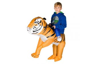 (Tiger) - Bodysocks Inflatable Tiger Costume (Kids)