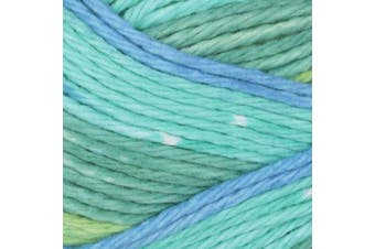 (Country) - Bernat Handicrafter Cotton Stripes Yarn, 45ml, Gauge 4 Medium Worsted, 100% Cotton, Country Stripes