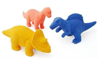 Large Dinosaur Figure Rubber Eraser 11Cm - Colour May Vary