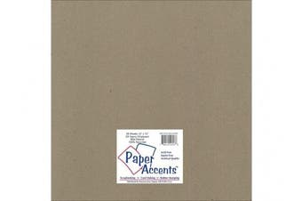 Accent Design Paper Accents ADP1212-25.CHIP85 2X Heavy 85 Point 30cm x 30cm Natural Chipboard Card Stock
