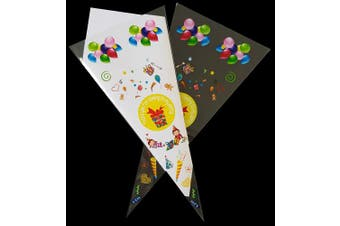 "(Yellow) - 30 Coloured "" Thank You for Coming "" Party Bags - CandyRushTM Cello Cones - Kids Gift Bag for Candy Sweets & Treats"