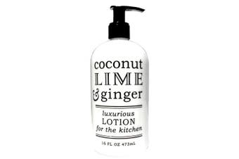 Greenwich Bay Coconut Lime Ginger Lotion for the Kitchen With Shea Butter, Coconut Oil, Extracts of Lime and Ginger 470ml ea. (Kitchen Hand Lotion, Coconut Lime Ginger)