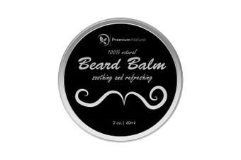 Beard Balm Leave-in Conditioner - All Natural Beard Oil for Beard Moustache Growth - Soothes Softens Tames & Styles Hair - Best Gift for Men Premium Nature