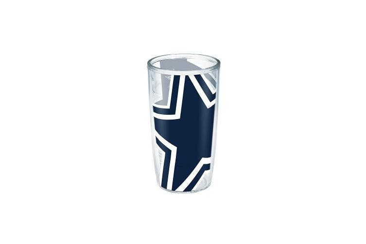 (NFL Dallas Cowboys Colossal, 470ml) - Tervis 1195870 NFL Dallas Cowboys Colossal Wrap Individual Tumbler, 470ml, Clear