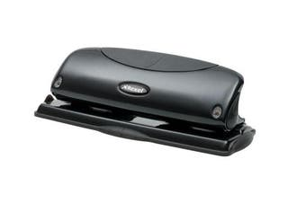 (1, Original Packaging) - Rexel Precision P425 4 Hole Punch Black 25 Sheet Capacity and Paper Alignment Indicator