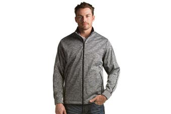 (Small, Black Heather) - Antigua Men's Golf Jacket
