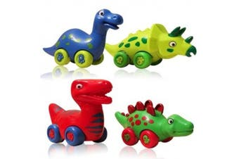 DinoFriends Dinosaur Toys for Boys and Girls Toddlers and Older Kids - Set of 4 Toy Dinosaurs