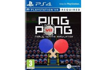 Ping Pong VR: Table Tennis Simulator