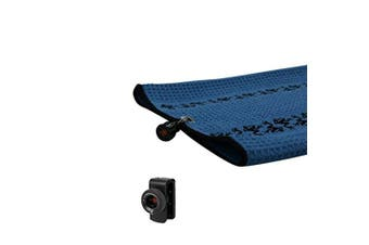 (Blue/Black) - Frogger Golf Microfiber Waffle TRAX Towel with Bag Latch-It