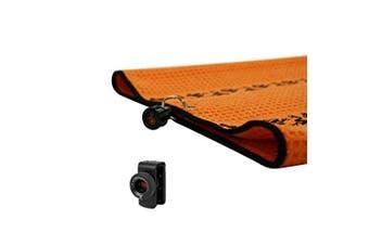 (Orange/Black) - Frogger Golf Microfiber Waffle TRAX Towel with Bag Latch-It