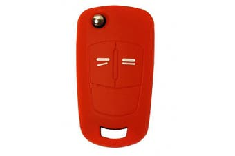 (2-Button-Keybit, red) - CK+ Vauxhall Opel Adam Astra Corsa Insignia Meriva Zafira Car Key Case Cover