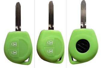 (2-Button-Key-B, Leuchtend grün) - CK+ Vauxhall Opel Agila A + B Car Key Case Cover Case