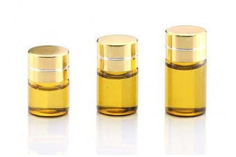 15PCS 1ML/2ML/3ML Refillable Glass Essential Oil Bottles Cosmetic Sample Bottles Vials with Gold Cap (2ML)