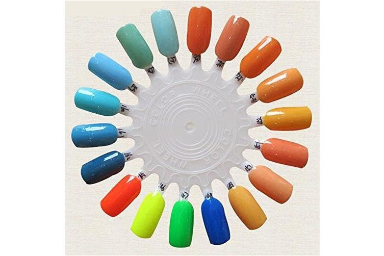 False Nail Swatches Wheel For 18 Colour Card Display Board Template Sunflower Shaped Nails Art Tools Pack of 10