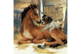 RIOLIS Foal and Puppy Counted Cross Stitch Kit