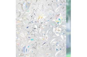 (44cm  x 200cm ) - Rabbitgoo 3D Window Films Privacy Film Static Decorative Film Non-Adhesive Heat Control Anti UV 17.7In. By 78.7In. (45 x 200Cm)