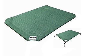 (Large) - Pet Bed Replacement Cover, Green, Large, Coolaroo 317713, New