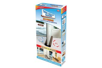 Twin Draught Guard Extreme Energy Saving Under Door Draught Stopper, New