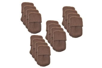 Bcp 16pcs Knitting Wool Furniture Socks/ Chair Leg Floor Protector (brown