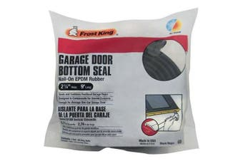 """(2-1/4"""" x 9 ft) - Frost King G9 Nail-on Rubber Garage Door Bottom Seal, 5.1cm - 0.6cm By 2.7m,"""