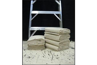 (9' x 12') - CCS CHICAGO CANVAS & Supply All Purpose Canvas Cotton Drop Cloth, 2.7m by 3.7m