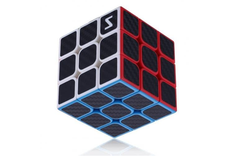 Dreampark 3x3x3 Speed Cube Carbon Fibre Sticker For Smooth Magic Cube Puzzles