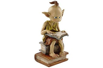 (Garden Pixie Elf Reading Book) - Top Collection Miniature Fairy Garden And Terrarium Statue, Garden Pixie Elf Rea