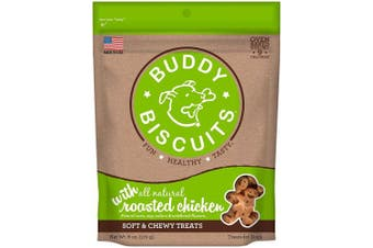 (Chicken 180ml, 1 Pack) - Cloud Star Soft And Chewy Buddy Biscuits Dog Treats, Roasted Chicken Flavour, 6-o