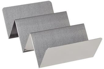 (3 Compartment) - American Metalcraft Tsh3 Taco Holders, 10cm Length X 20cm Width, Silver