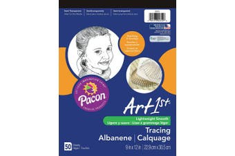 (50 Sheets) - Pacon Art1st Tracing Paper Pad, 23cm X 30cm , 50 Sheets (2312)